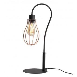 ALDEX 960B | Allegra Aldex stolna svjetiljka 56cm s prekidačem 1x E27 crno, crveni bakar