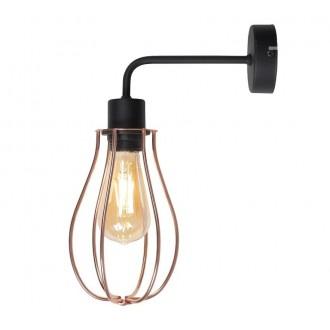 ALDEX 960C | Allegra Aldex zidna svjetiljka 1x E27 crno, crveni bakar