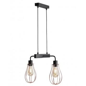 ALDEX 960H/L | Allegra Aldex visilice svjetiljka 2x E27 crno, crveni bakar