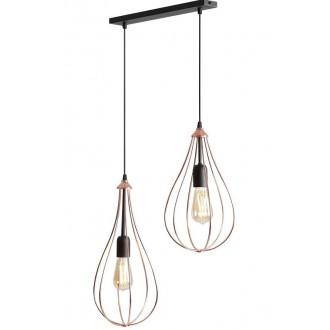 ALDEX 960H | Allegra Aldex visilice svjetiljka 2x E27 crno, crveni bakar