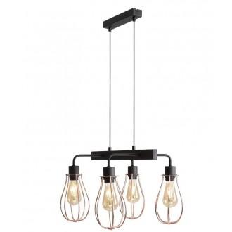 ALDEX 960L/L | Allegra Aldex visilice svjetiljka 4x E27 crno, crveni bakar