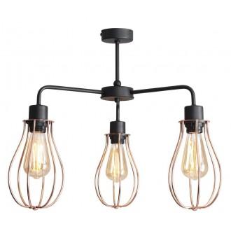 ALDEX 960PL/E | Allegra Aldex stropne svjetiljke svjetiljka 3x E27 crno, crveni bakar