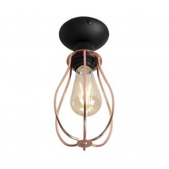 ALDEX 960PL/G | Allegra Aldex stropne svjetiljke svjetiljka 1x E27 crno, crveni bakar