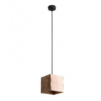 ALDEX 982G | Bit-AL Aldex visilice svjetiljka 1x GU10 drvo, crno