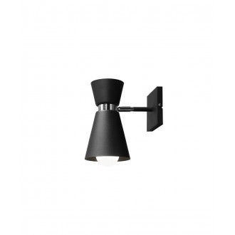 ALDEX 989C1   Kedar Aldex zidna svjetiljka elementi koji se mogu okretati 1x E27 crno, krom