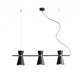 ALDEX 989E/1   Kedar Aldex visilice svjetiljka elementi koji se mogu okretati 3x E27 crno, krom