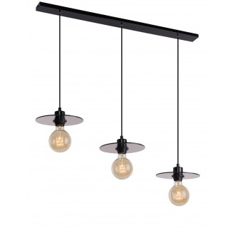 ALDEX 999E | Dysk Aldex visilice svjetiljka 3x E27 crno, prozirna