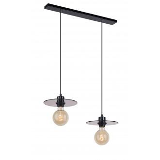 ALDEX 999H | Dysk Aldex visilice svjetiljka 2x E27 crno, prozirna