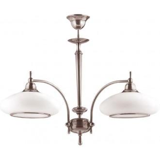 AMPLEX 104 | Agat Amplex luster svjetiljka 2x E27 krom, bijelo