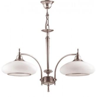 AMPLEX 104L | Agat Amplex luster svjetiljka 2x E27 krom, bijelo