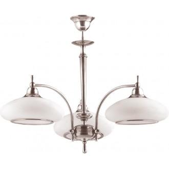 AMPLEX 105 | Agat Amplex luster svjetiljka 3x E27 krom, bijelo