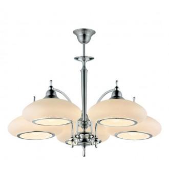 AMPLEX 106 | Agat Amplex luster svjetiljka 5x E27 krom, bijelo