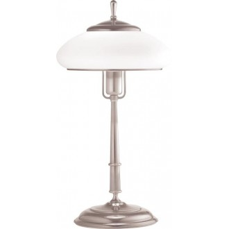 AMPLEX 108 | Agat Amplex stolna svjetiljka 49cm sa prekidačem na kablu 1x E27 krom, bijelo