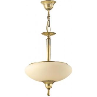 AMPLEX 110L | Agat Amplex visilice svjetiljka 2x E14 zlatno, krem