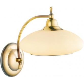 AMPLEX 111 | Agat Amplex zidna svjetiljka 1x E14 zlatno, krem