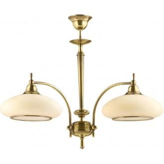 AMPLEX 113 | Agat Amplex luster svjetiljka 2x E27 zlatno, krem