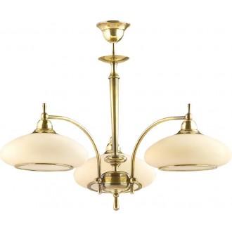 AMPLEX 114 | Agat Amplex luster svjetiljka 3x E27 zlatno, krem
