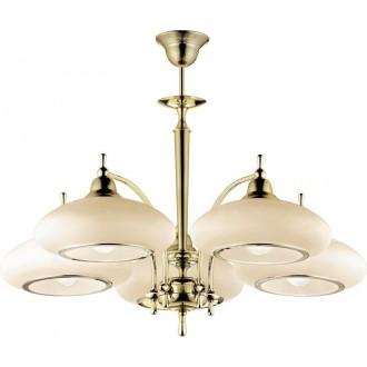 AMPLEX 115 | Agat Amplex luster svjetiljka 5x E27 zlatno, krem