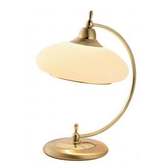 AMPLEX 116 | Agat Amplex stolna svjetiljka 37cm sa prekidačem na kablu 1x E27 zlatno, krem