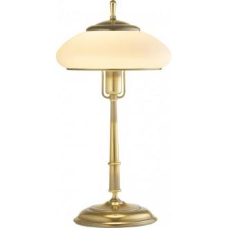AMPLEX 117 | Agat Amplex stolna svjetiljka 49cm sa prekidačem na kablu 1x E27 zlatno, krem