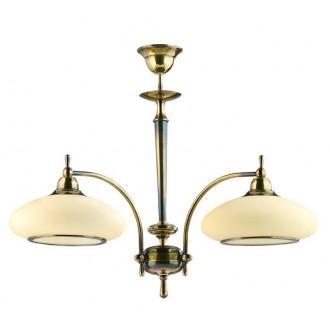 AMPLEX 122 | Agat Amplex luster svjetiljka 2x E27 patinasto, krem