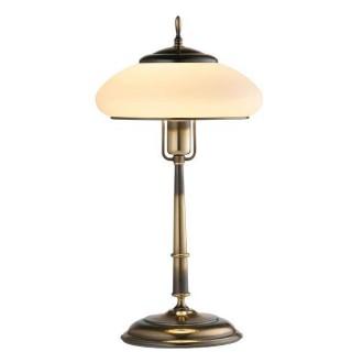 AMPLEX 126 | Agat Amplex stolna svjetiljka 49cm sa prekidačem na kablu 1x E27 patinasto, krem