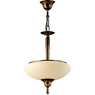AMPLEX 425L | Agat Amplex visilice svjetiljka 2x E14 mat patinastosto, krem