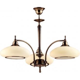 AMPLEX 429 | Agat Amplex luster svjetiljka 3x E27 mat patinastosto, krem
