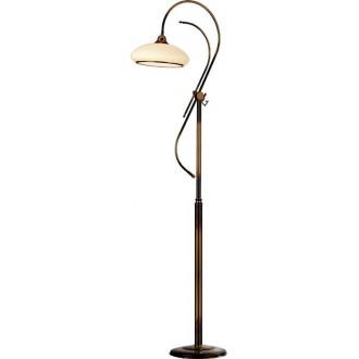 AMPLEX 433 | Agat Amplex podna svjetiljka 180cm sa prekidačem na kablu 1x E27 mat patinastosto, krem