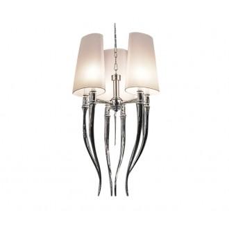 AZZARDO 0028 | Diablo-AZ Azzardo luster svjetiljka 6x E14 krom, bijelo