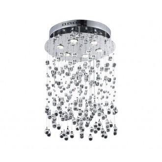 AZZARDO 0269 | Comet-AZ Azzardo stropne svjetiljke svjetiljka 6x GU10 krom, prozirno