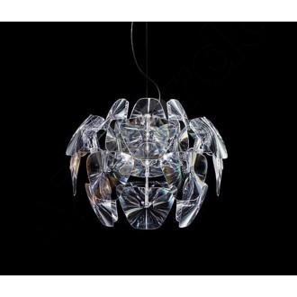 AZZARDO 0314 | 3D Azzardo visilice svjetiljka 3x E27 krom, prozirno