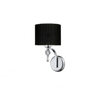 AZZARDO 0501 | Impress-AZ Azzardo zidna svjetiljka 1x E27 krom, crno, kristal