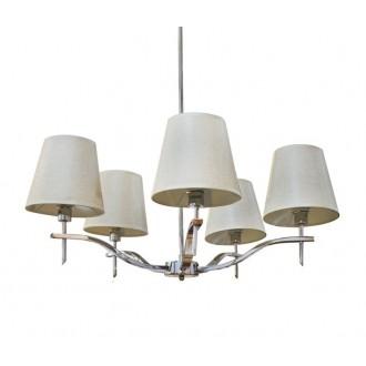 AZZARDO 0724 | Princessa-AZ Azzardo luster svjetiljka 5x E14 krom, smeđe