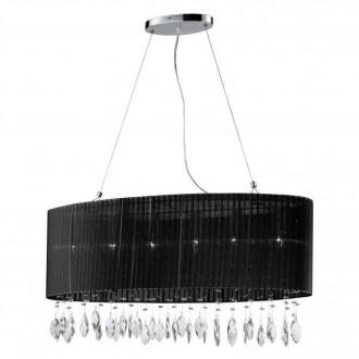 AZZARDO 0914 | Sidney-AZ Azzardo visilice svjetiljka 6x E14 krom, crno, kristal