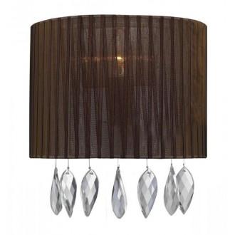 AZZARDO 0915 | Sidney-AZ Azzardo zidna svjetiljka 1x E14 krom, smeđe, kristal
