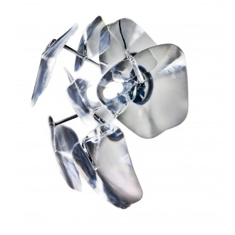 AZZARDO 0979 | 3D Azzardo zidna svjetiljka 1x E27 krom, prozirno