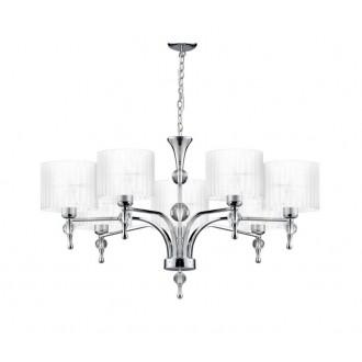 AZZARDO 1106 | Impress-AZ Azzardo luster svjetiljka 7x E27 krom, bijelo, kristal