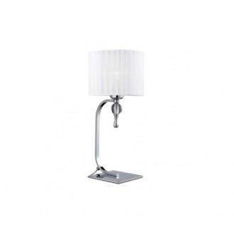 AZZARDO 1107 | Impress-AZ Azzardo stolna svjetiljka 42cm s prekidačem 1x E27 krom, bijelo, kristal