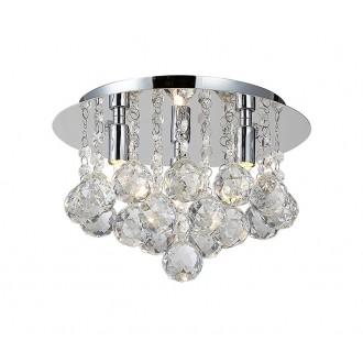 AZZARDO 1285   Bolla Azzardo stropne svjetiljke svjetiljka 3x G9 krom, prozirno, kristal