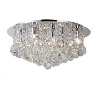 AZZARDO 1287 | Bolla Azzardo stropne svjetiljke svjetiljka 8x G9 krom, prozirno