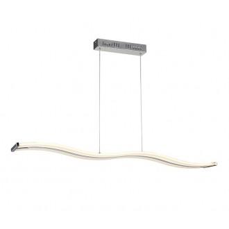 AZZARDO 1290 | Bertone Azzardo visilice svjetiljka 1x LED 2100lm 3000K krom, bijelo