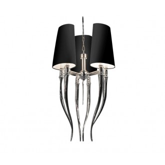 AZZARDO 1345 | Diablo-AZ Azzardo luster svjetiljka 6x E14 krom, crno