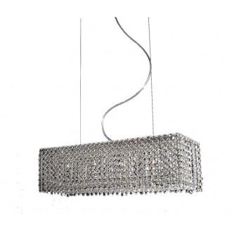 AZZARDO 1510 | Roma-AZ Azzardo visilice svjetiljka 6x G9 krom, prozirna