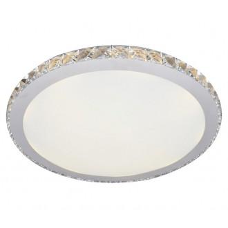 AZZARDO 1592 | Gallant Azzardo stropne svjetiljke svjetiljka okrugli 1x LED 1440lm krom, opal