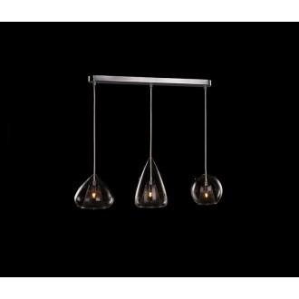 AZZARDO 2168 | Gordon-AZ Azzardo visilice svjetiljka 4x G9 krom, prozirno, smeđe