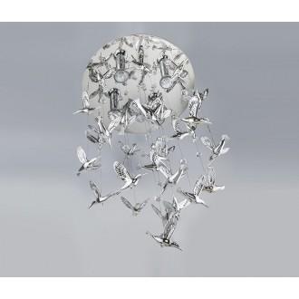 AZZARDO 2449 | Birds-AZ Azzardo visilice svjetiljka 4x GU10 srebrno, kristal
