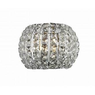 AZZARDO 2520 | Sophia Azzardo zidna svjetiljka 2x G9 krom, kristal
