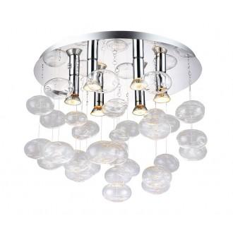 AZZARDO 2572 | Luvia Azzardo stropne svjetiljke svjetiljka 6x GU10 krom, prozirno