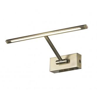 AZZARDO 2640 | Monalisa-AZ Azzardo ovetljenje ogledala svjetiljka pomjerljivo 1x LED 200lm 3000K antik bakar